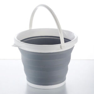 SILICON PLASTIC FOLDING COLLAPSIBLE BUCKET KITCHEN CAMPING GARDEN WATER CARRIER