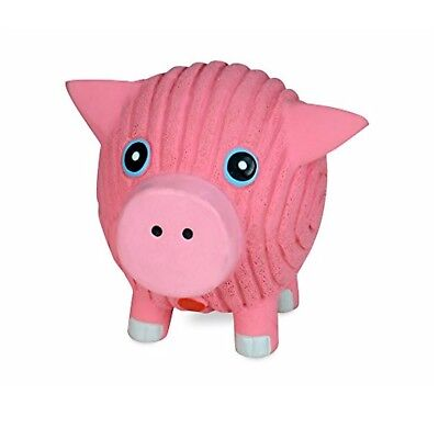 HuggleHounds Extremely Durable Squeaky Ruff Tex Hamlet The Pig Dog Toy Small (Rubber Pig)