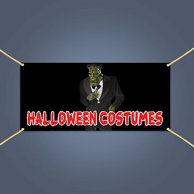 HALLOWEEN COSTUMES Banner, Holiday Season Sale Advertising Vinyl Sign, 6' X - Season Halloween Costumes