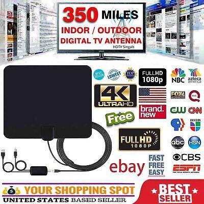2019 NEW HDTV ANTENNA BEST 350 MILES LONG RANGE LESOOM INDOOR TV DIGITAL 4K (Best Indoor Tv Antenna 2019)