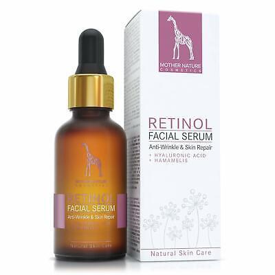 Retinol Serum 2,5% Anti-Aging für Gesicht-Haut gegen Falten Akne Augenringe 30ml