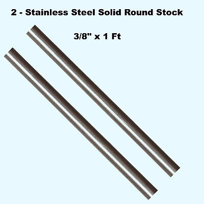 Stainless Steel Solid Round Stock 2 - Lengths 38 X 1 Ft 316 Unpolished Rod