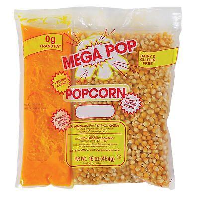 Gold Medal Mega Pop Popcorn Kit 12 Oz. Kit 24 Ct. Snack Food Free Shipping