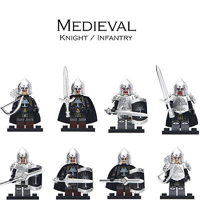 Medieval Armour Knight & Infantry Lego Moc Minifigure Gift For Kids Collection](Knights Armor For Kids)