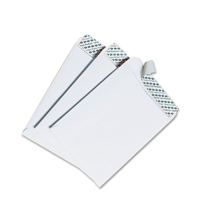 Quality Park Redi-Strip Catalog Envelope, 6 x 9, White - 100/Box New