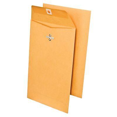 Members Mark 6 x 9 Envelopes 150 ct. Brown Clasp Kraft Envelope Mailers #55