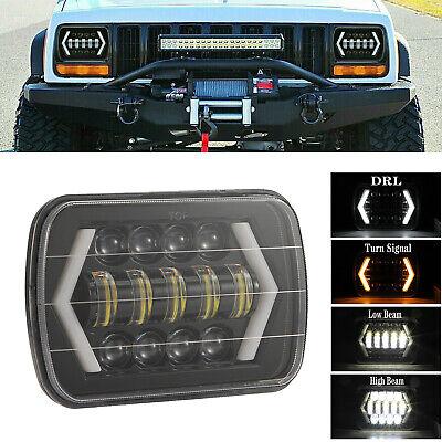 "5X7 7x6"" LED Hi/Lo Beam DRL Headlight For Chevrolet Jeep Cherokee XJ Wrangler YJ"