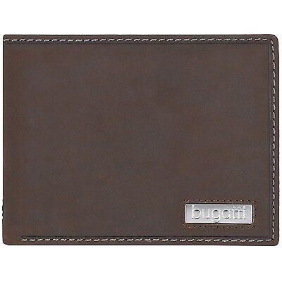 bugatti Brasilia Querformat Herren Geldbörse Portemonnaie Leder 12,5 cm (brown)