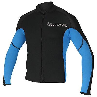 Men's 2mm Wetsuits Jacket Long Sleeve Neoprene Wetsuits Top For Surfing US (Neoprene Mens Jacket)