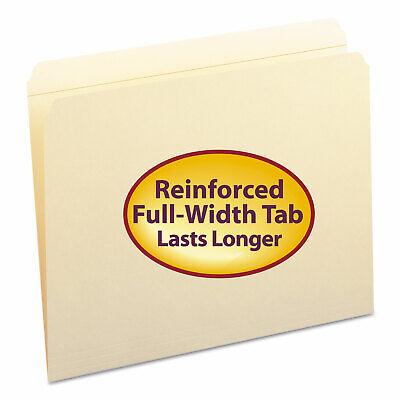 Smead File Folders Straight Cut Reinforced Top Tab Letter Manila 100box 10310