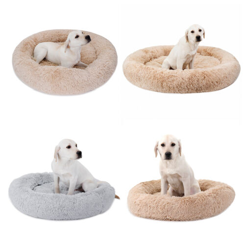 Lovely Design Soft Smooth Dog Cat Bed Ease Anxiety Sleep Well Detachable Zipper Beds