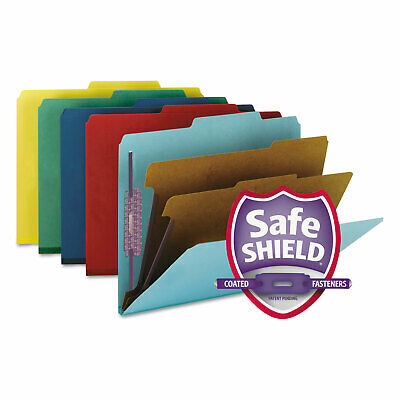 Smead Pressboard Classification Folders Letter Six-section Assorted 10box 14025