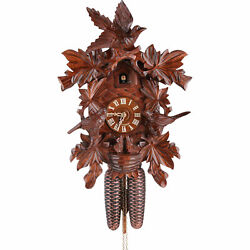 Cuckoo Clock 8-day-movement Carved-Style 16.5 by Hekas
