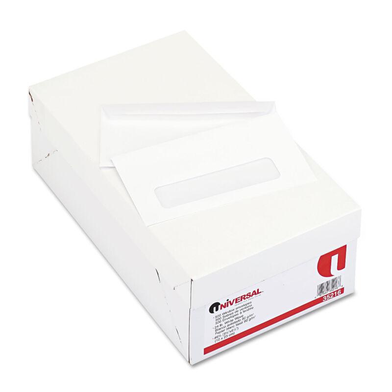 UNIVERSAL Window Business Envelope #6 3/4 3 5/8 x 6 1/2 White 500/Box 35216