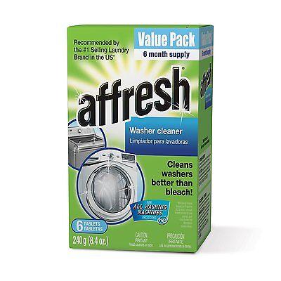 Whirlpool - Affresh Washer Machine Cleaner, 6-Tablets, 8.4 oz, New
