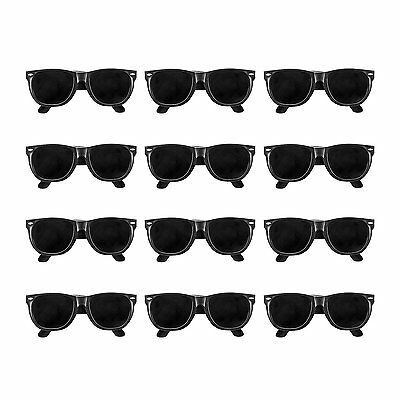 12pk Black KIDS Sunglasses Props Costumes Summer Beach Party Favors - Kids Sunglasses Party Favors