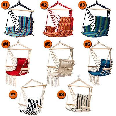 Hammock Chair Patio Porch Yard Tree Hanging Air Swing Seat Rope Chair Outdoor -