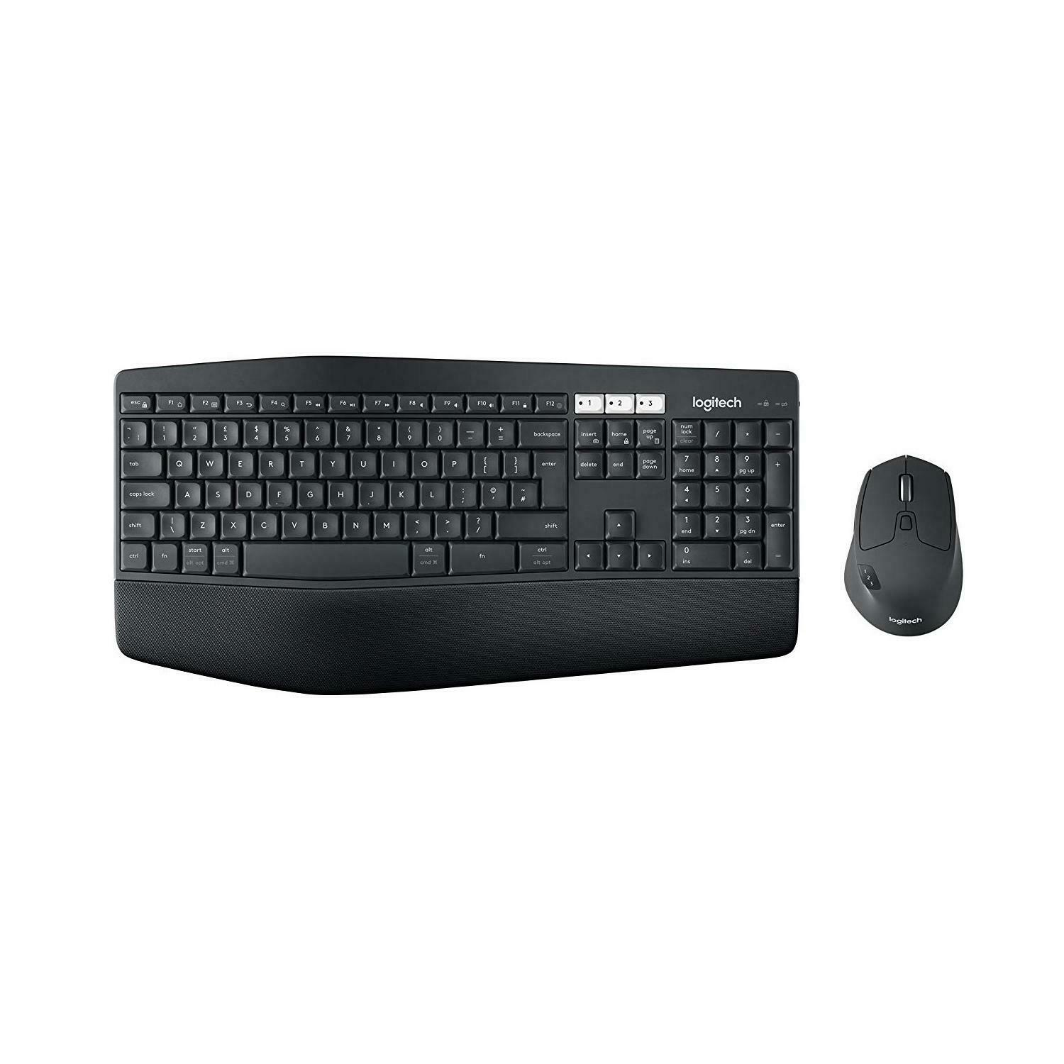 Logitech MK850 Wireless Palm Rest Keyboard and Mouse, QWERTY