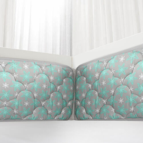 "Baby Breathable Crib Bumper Pad Protector Crib Padded Liners 4PCs 52"" x 28"" Gray"