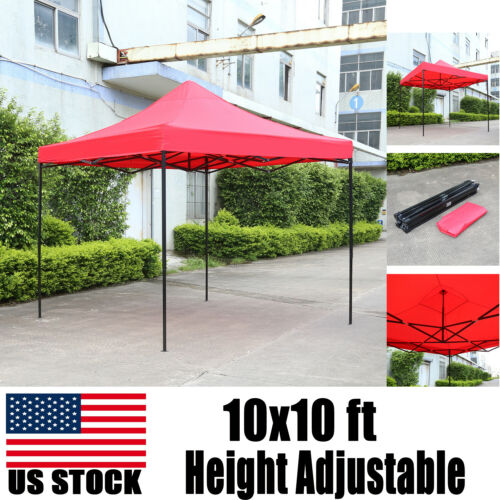10x10ft Commercial Pop up Gazebo Canopy Party Outdoor Quick