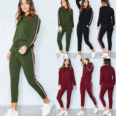 Womens 2PC Tracksuits Set Loungewear Ladies Activewear Tops Suit Pant Plus Size
