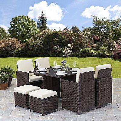 Garden Furniture - RATTAN GARDEN FURNITURE SET CHAIRS SOFA TABLE OUTDOOR PATIO WICKER