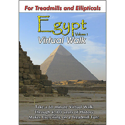 ANCIENT EGYPT TREADMILL WALK SCENERY DVD : EXERCISE FITNESS WEIGHT LOSS VIDEO