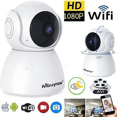 1080P HD CCTV FUNK WLAN WIFI IP KAMERA NETZWERK Nachtsicht ÜBERWACHUNGSKAMERA TF ()