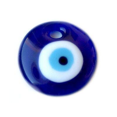 Glas Runder Anhänger (Glas Anhänger Blaues-Auge 30-75mm verschiedenen Größen,Türkische Glücksbringer)