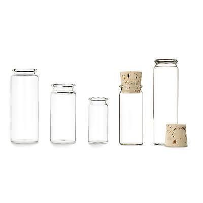 Flasche Mit Kork (25x Rollrandflasche mit Natur-Korken ☆ Flachbodenglas mit Rollrand ☆ Gewürzglas)