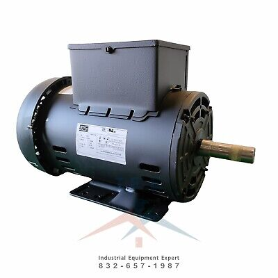 Weg 5 Hp Electric Motor For Compressor 56hz Frame 3440 Rpm 1-phase 78 Shaft
