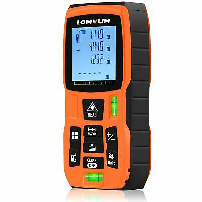 Laser Distance Measure With Mute Function Large Lcd Backlight Display 328ft100m