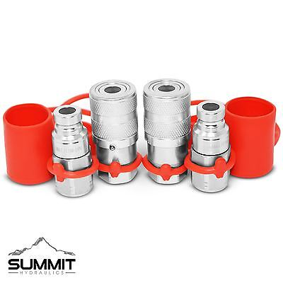 14 Npt Flat Face Hydraulic Quick Connect Coupler Coupling Plug 2 Sets