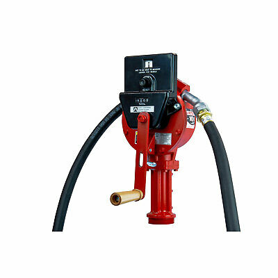 Fill-rite Fr112c Fuel Transfer Rotary Hand Pump W Suction Pipe Hose Counter