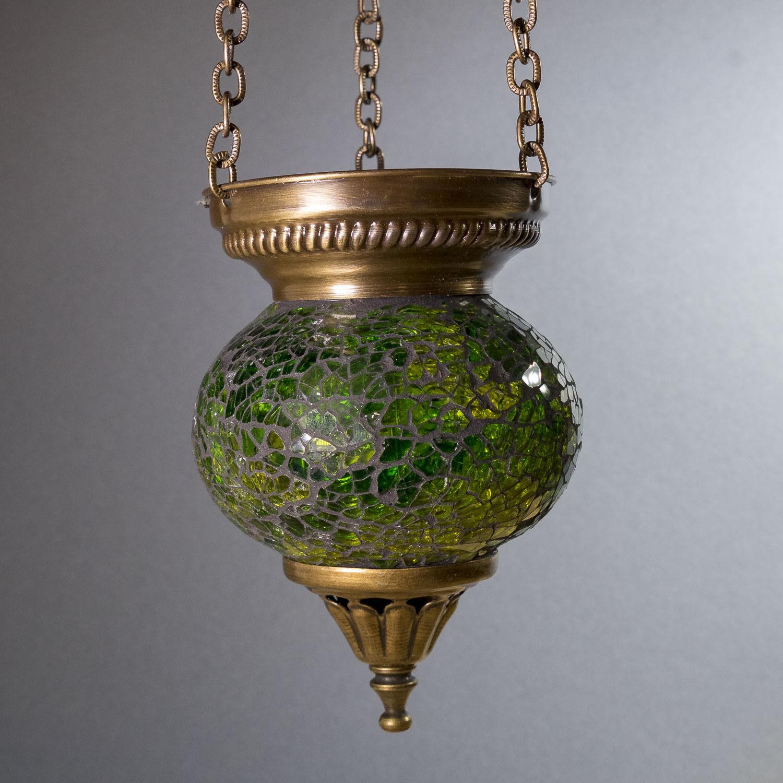 Mosaik Hängeteelicht grün Mosaiklampe