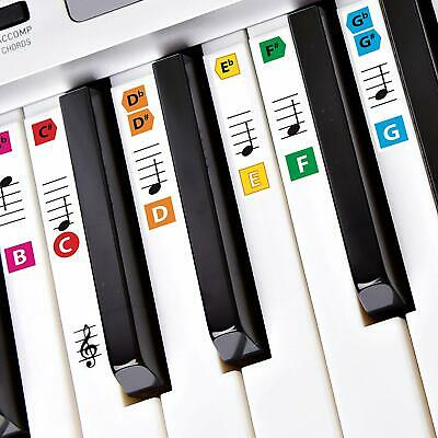 Best Adhesive Color Piano Key Note Keyboard Stickers