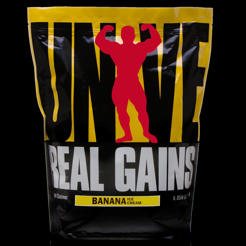 Universal Nutrition Real Gains Banana Ice Cream, 6.85 Lbs
