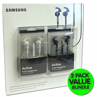 Samsung Active In-Ear Headphones w/ MIC Headset Earbud Earphones 2-PACK Original for sale  Shipping to India