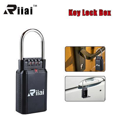 Riiai 4 Digit Key Safe Vault Combination Lock Box Car-door Handle Big Capacity