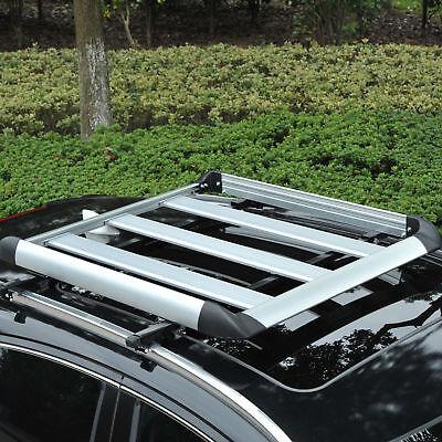 Dachgepäckträger Dachträger Gepäckkorb Universal Auto Alu 75kg 110cm Silber