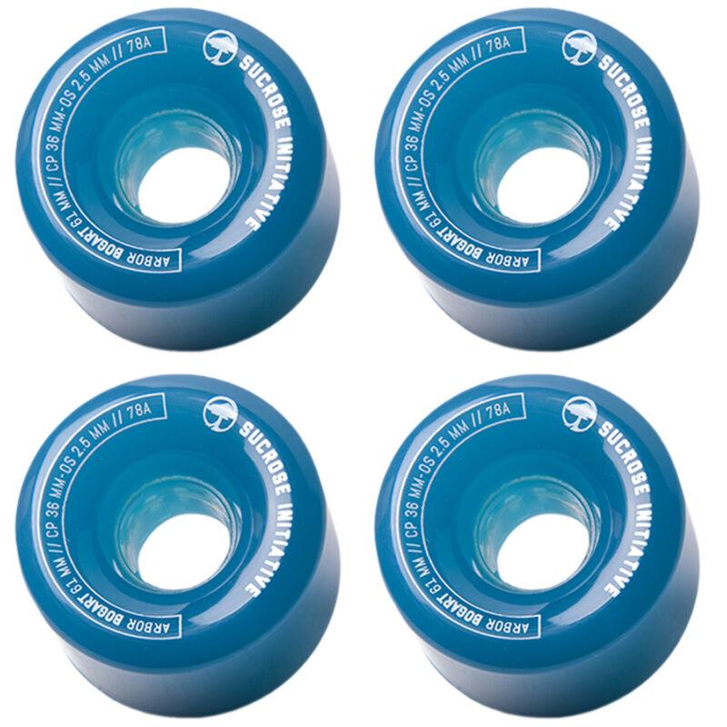 ARBOR Wheels Longboard Skateboard Cruiser Bogart 61mm 78A Ghost Blue