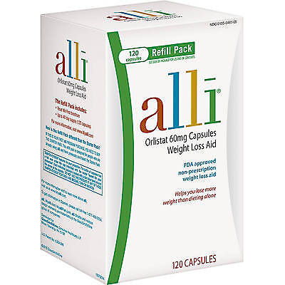 Alli Orlistat 60mg Weight Loss Aid 120 Capsules EXP 03/18