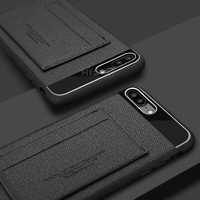 For iPhone 8 7 Plus Phone Case ID Card Wallet Leather kickstand Slim Armor Cover