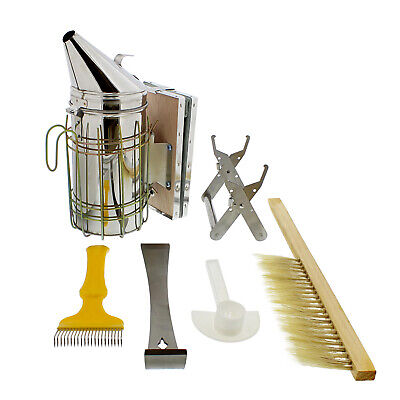 Rural365 Beekeeping Starter Kit Beekeeping Supplies Bee Smoker 6-piece Set