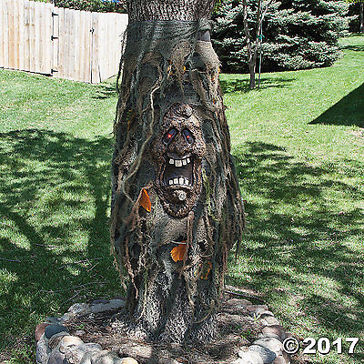 A HAUNTED TREE GHOST CREEPER LED RED GLOW EYES Prop Halloween NEW 40