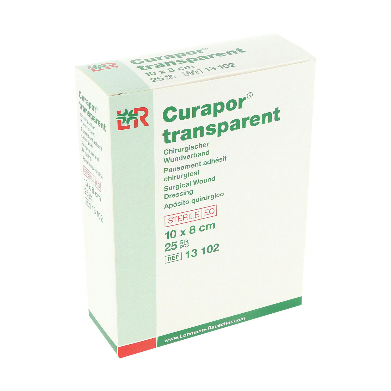 CURAPOR transparent   8 x 10 cm   steriler Wundverband   Duschpflaster   25 Stk