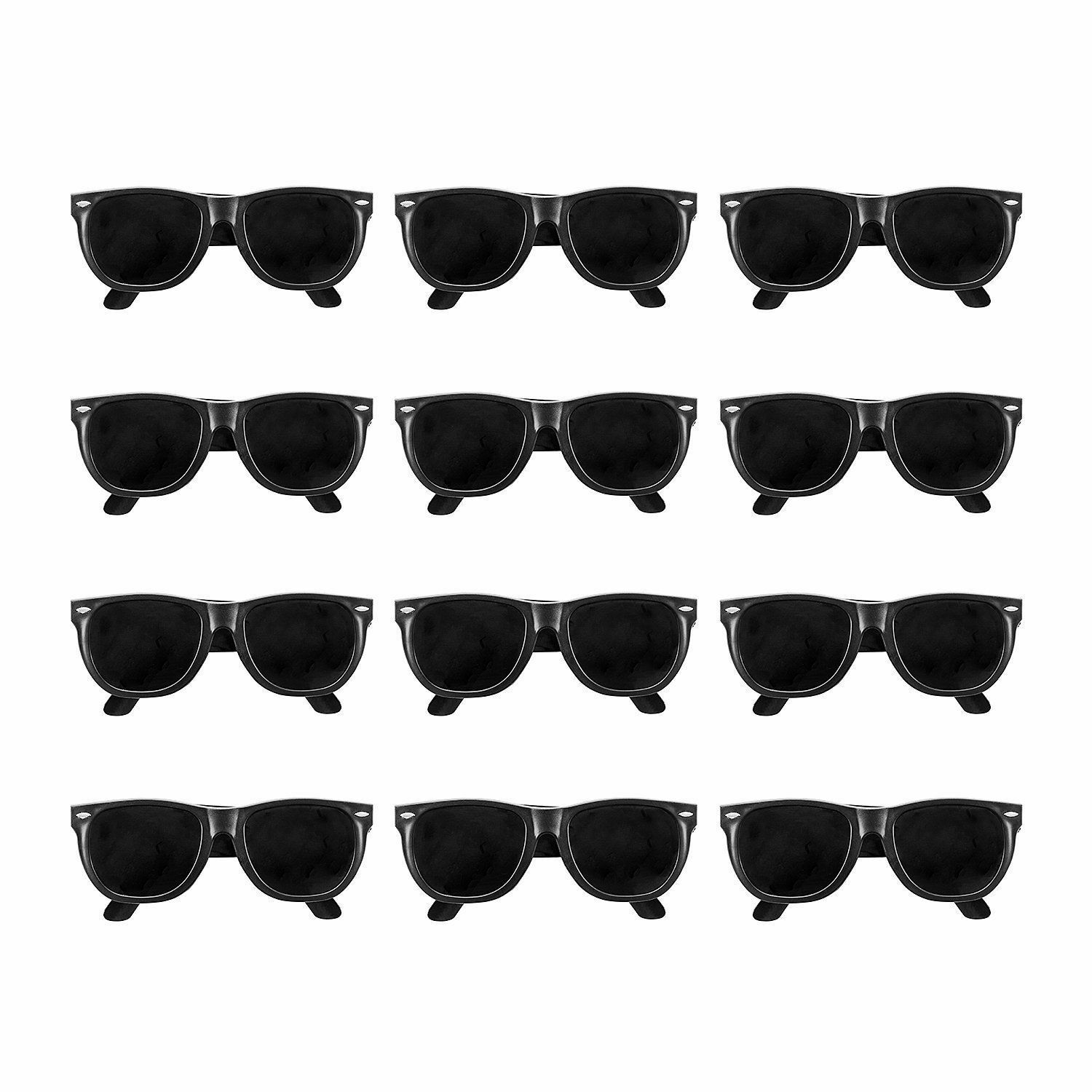 36pk BLACK CLASSIC 80s KIDS Sunglasses Party Props Birthday
