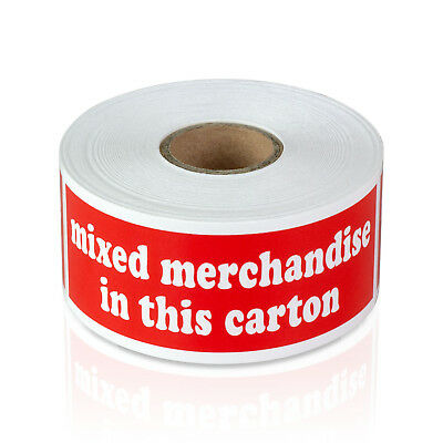 300 Labels - Mixed Merchandise In This Carton Stickers Shipping 1.5 X 4