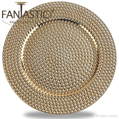 Fantastic:)™ Round 13Inch Charger Plate With Shiny Finish ( Hammer Pattern ) Round 13 Charger
