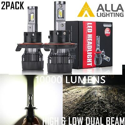 Alla Lighting 10000lm H13 LED hi   lo  Dual Beam hd-light  Light Bulb Lamp,White
